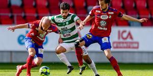VSK:s förra match, borta mot Öster, slutade också 0-0. Grönvitt har nu gått 260 minuter utan att göra mål. FOTO: Bildbyrån