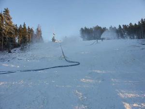 Snart är det fullt med åkare i Fornby klints slalombacke. Bilden är från ett annat år.Foto: Kerstin Eriksson/DD