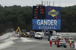 Räddningsaktionen efter Robert Wickens krasch på Pocono International Raceway tidigare i år.