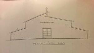 Den planerade kyrkan kommer inte att ha något klocktorn, utan ett litet kors på taket.