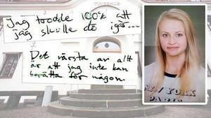 Tova Moberg blev 19 år. Endast dagboken visste vad hon utsattes för. Eller? Foto: Arkiv