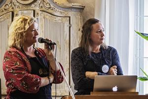 Hélène Westelius och Linda Elverstig från MatVärden laddar nu för mat-SM i Sandviken.