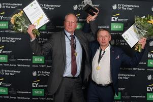 Claes Mellgren och Per Olof Andersson fick ta emot pris som Svealands främsta entrepenörer.