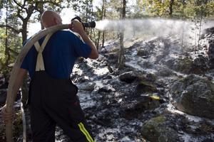 Det råder hög brandrisk i hela länet och därför har räddningstjänsten valt att införa eldningsförbud i skog och mark. OBS: Bilden är en arkivbild.