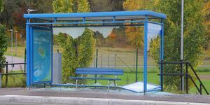 I Sala med omnejd har en massa busskurer vandaliserats de senaste dagarna.