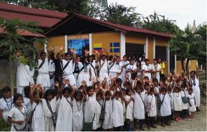 Den här skolan byggdes 2018 genom Ankarstiftelsen, som jobbar med att göra långsiktiga insatser för behövande människor i framför allt i Colombia och Brasilien. Foto: Ankarstiftelsen