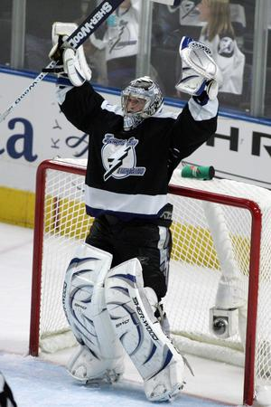 Jubel i Tampakassen november 2006 i NHL. Bild: AP Photo/Mike Carlson