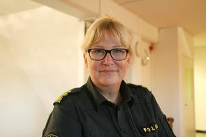 Kristina Eklund Holgersson öppnar snart polisstationen på Bäckby.