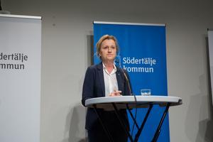 Boel Godner (S), kommunstyrelsens ordförande i Södertälje.