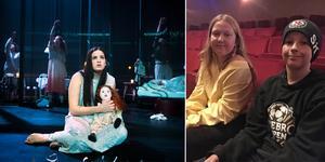 """Edith Hagström och Simon Korslid från Nya Karlslundsskolan var på premiären av """"Agnes Cecilia"""" på Örebro teater. Foto: José Figueroa / Sofia Gustafsson (bilden är ett montage)"""