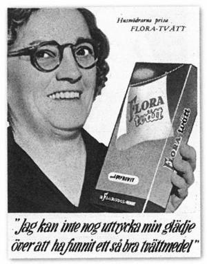 Annons i tidningen Husmodern, 1950.