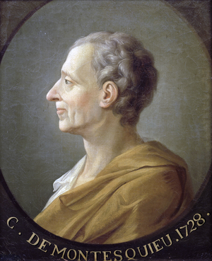 Montesquieu målad av Jacques-Antoine Dassier.