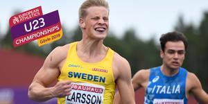 Henrik Larsson är klar för final på 100 meter. Bild: Erik Simander/TT