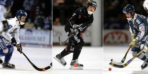 Kaj Nordin (nu: Engström), Pelle Fosshaug och Jonas Claesson – självskrivna i Ola Fredricsons drömelva. Bild: TT