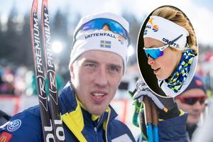 Skidparet Calle Halfvarsson och Jennie Öberg formar sitt drömhus.Fotomontage