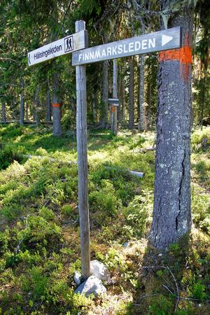 Strax ovanför Gruvbyn möts Finnmarksleden och Hälsingeleden. Här går även den gamla Gruvstigen mellan hembygdsgården – där en gång Henric Kalmeters hem låg – och koboltgruvan.