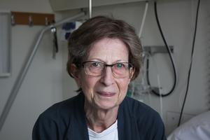 Inga-Britt Good arbetar själv som sekreterare på sjukhuset i Västerås där hon nu är inlagd.