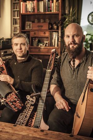 Gruppen Kveðandi spelar modern medeltidsmusik. Pressbild