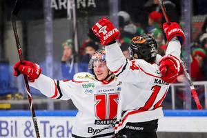 Saken är klar! Sakari Manninen till 3–0. Örebro spelar i SHL nästa säsong.