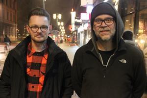 Thomas Österberg, 38, och Daniel Johansson, 37, i bandet Crooked Letter. Övriga medlemmar i bandet är David Zackrisson och Fredrik Nygren. Den sistnämnde har nyligen värvats in som basist och känns kanske igen från Gadget.
