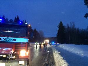 En trafikolycka inträffade på torsdagseftermiddagen på riksväg 70 i höjd med Vikarbyn i Rättviks kommun.