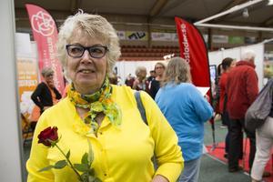 Rose-Marie Sundberg var en av besökarna som lockats till mässan.