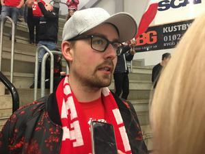 Robin Berglund på plats i Oskarshamn.
