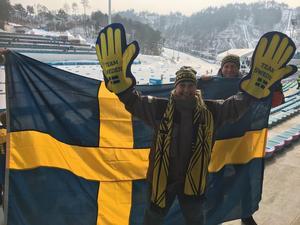 Foto: PrivatLinda Pettersson var extremt laddad inför damernas skiatlon med Kalla i spetsen.