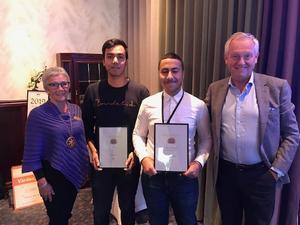 Abbas Al-Khafaji och Ali Soltani tilldelas årets integrationsstipendium.
