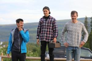 Till vänster: På tredjeplats Erik Melin Söderström. Mitten: På första plats, Olle Olsson Bad. Till höger: Andraplats, Kristoffer Kvarnlöf.