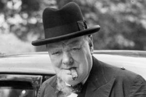 Winston Churchill, (1874–1965), politiker, London:
