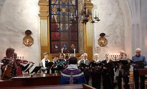 Torsångs kyrkokör bjöd på ett fint program. Foto: Lena Gäfvert