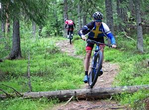 Edvin Lindh, Härnösands cykelklubb, vann SM på mtb-sprint (XCE) i somras.