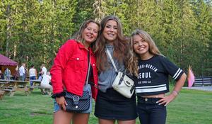 Från vänster, Tuva Ledin, Lovisa Hedberg och Thelise Hedberg.