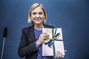 Magdalena Andersson presenterade en vårbudget där Centerpartiet och Liberalerna haft stort inflytande.