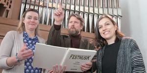 Katarina Rudérus, Karl Nicklas Gustavsson och Inger Dalene anordnar traktens första körfestival. I mars blir det konserter och workshops.