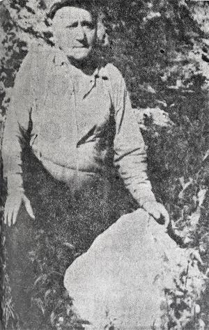Den 100 kilo tunga stenbumlingen flög in genom John Erikssons vägg.
