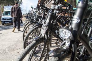Under två dagar visar Norrköpingsföretaget Ecochange upp förmånscyklar för kommunanställda i Delsbo och Hudiksvall.