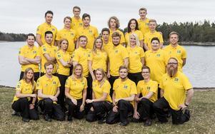 Svenska yrkeslandslaget anno 2016 då bland annat Johanna Hansson och Joel Lindh deltog. Foto: World skills Sweden
