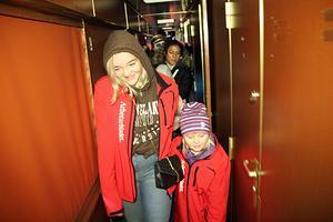 Skräckexpressen bestod av en trång korridor genom Orienteexpressens vagnar.