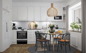 Ett kök i de nya lägenheterna. Foto: Morastrand