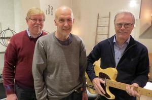 Tommy Gunnars Band består av fr v Vikôs Kalle Eriksson, Tommy Gunnars och Rolf Björk. Foto: Walters Börje Edénius.