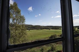 Utsikten från huset är slående.