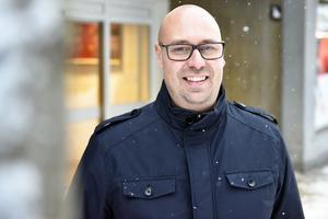 Markus Westman på gågatan i Mora.
