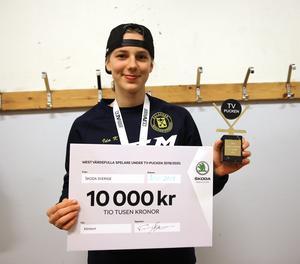 Ida Karlsson fick det prestigefyllda priset som mest värdefulla spelare i TV-pucken.