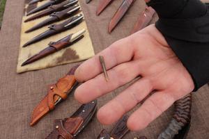 Förmodligen är André Rybak ägare av den minsta kniven på Knivveckan. Det är dock inte den minsta i världen.