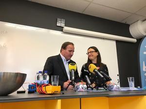 Stefan Löfven (S), statsminister, och Anna Ekström (S), utbildningsminister.