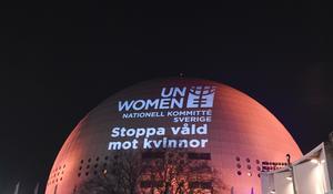 Mellan 25 november och 10 december pågår den årliga kampanjen för att synliggöra våld mot kvinnor. Foto: Pontus Lundahl/TT