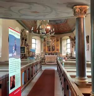 Hömb är en av pastorats många vackra kyrkor.