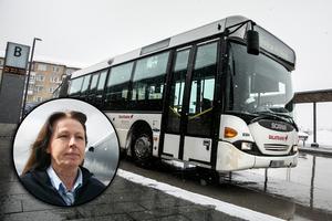 Fotomontage: Mikael Hellsten.Svårare för bussförarna med nya mobillagen: